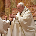 Pope with Gospels